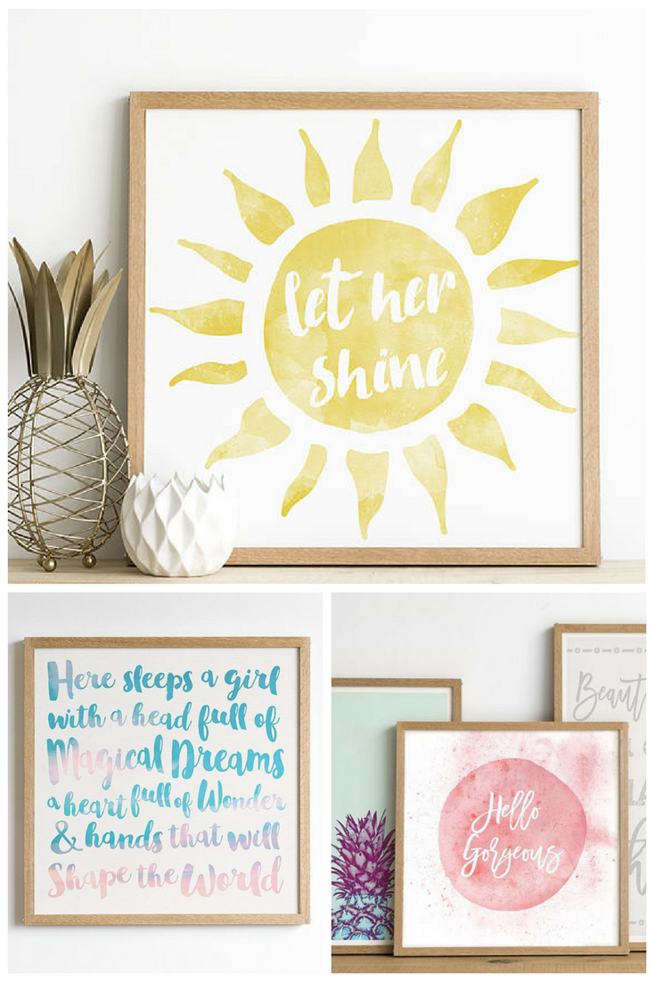 Nursery Decor or Baby Shower gift! Great quotes!! #baby #nursery ...