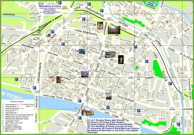 Pavia tourist map Maps Pinterest Tourist map Italy and City