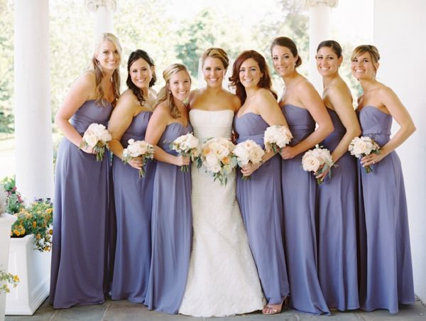 Periwinkle Bridesmaid Dresses Abby Jiu Wedding