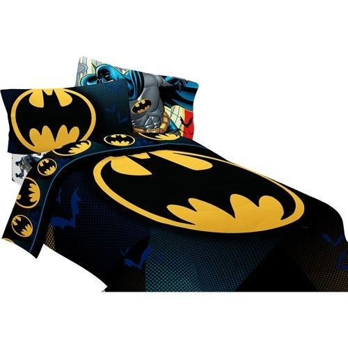 New Batman Dc Comic Full Double Size Bed Comforter Sheet Set Bed In Bag Bundle Dccomics Batman Comforter Boys Bedding Batman Sheets