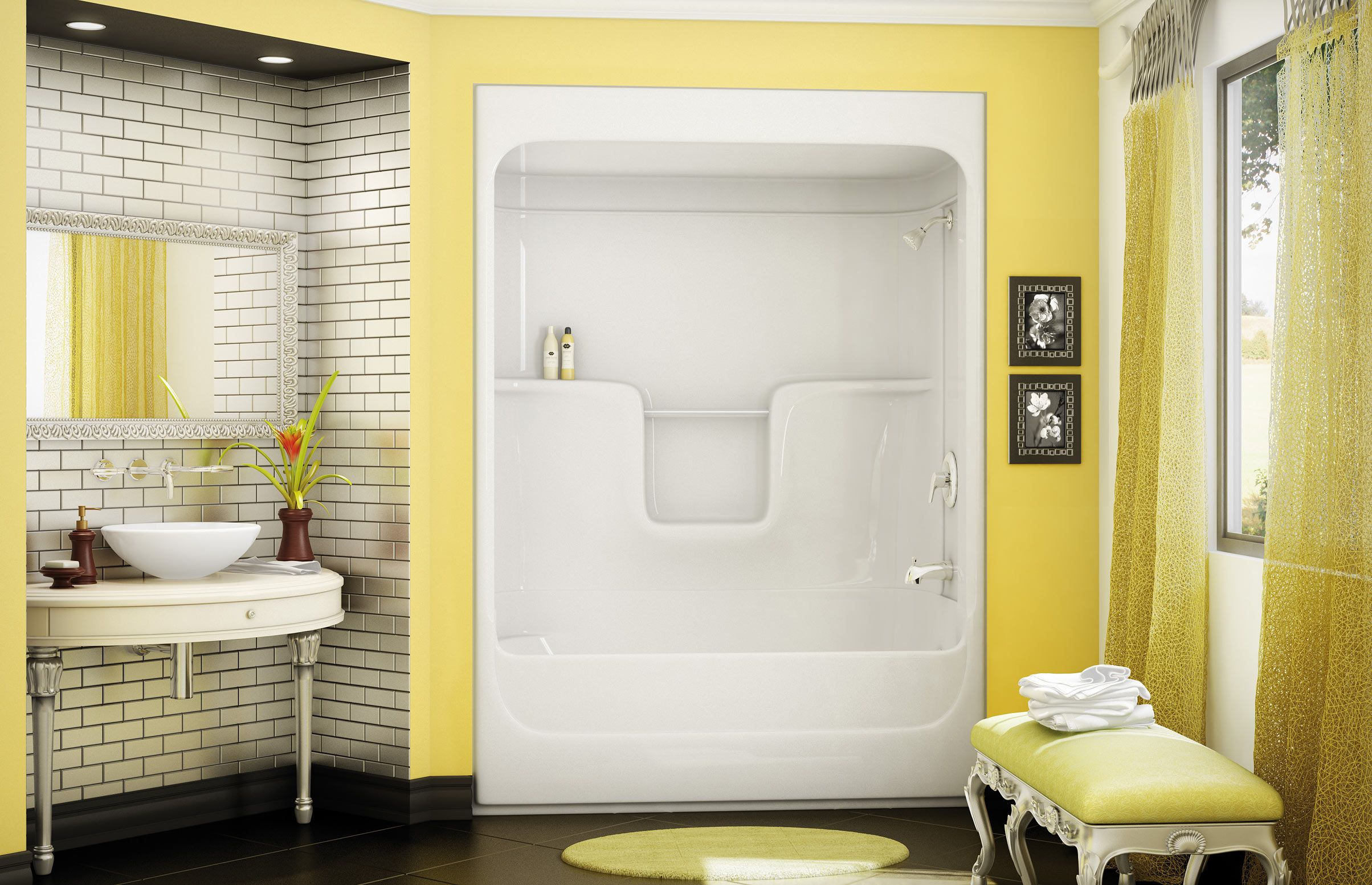 alcove showers in units soaking freestanding with bathtub and all baths bathroom one surround shower piece tub