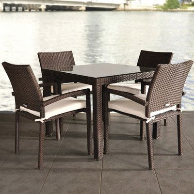 beachcrest home aquia creek 5 piece dining set with cushion, Esstisch ideennn