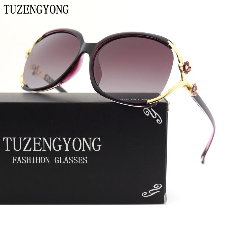985fa07d6b2 TUZENGYONG Luxury polarized sunglasses women brand designer sun glasses  Gradient Lens uv400 oculos de sol with