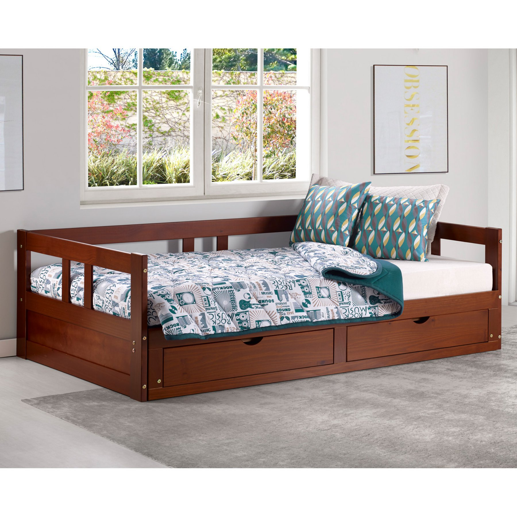 Alaterre Melody Day Bed with Storage Daybed with storage