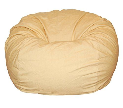 Ahh! Products Cotton Washable Bean Bag, Marigold Yellow, Large