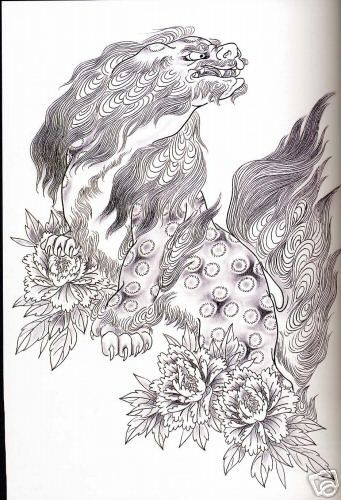 i like the flowers fu dog foo dog shishi tattoo ideas pinterest the flowers the o. Black Bedroom Furniture Sets. Home Design Ideas