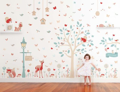 Into the woods woodland wall decals wall decals wall decor tinyme