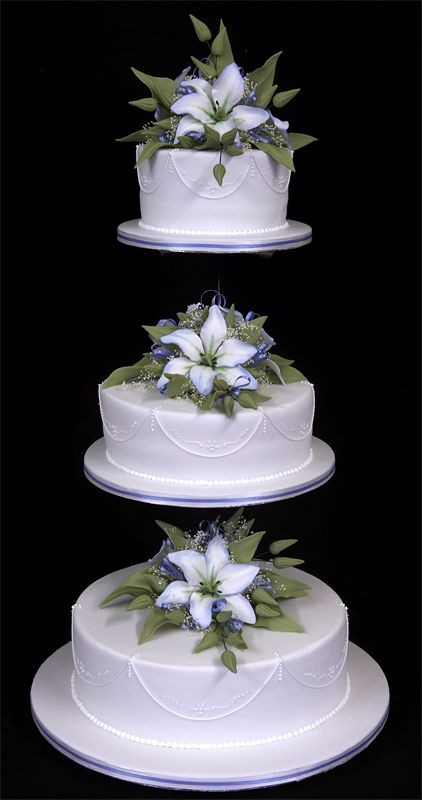 3 Tier Wedding Cake Separated For Different Flavors 1 Being Allergen Free