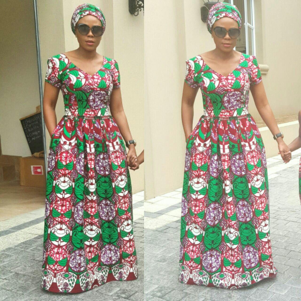 African Ankara Maxi Dresses