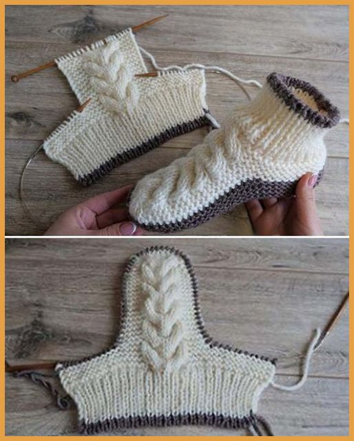 Wool Cable Slippers – Free Knitting Pattern