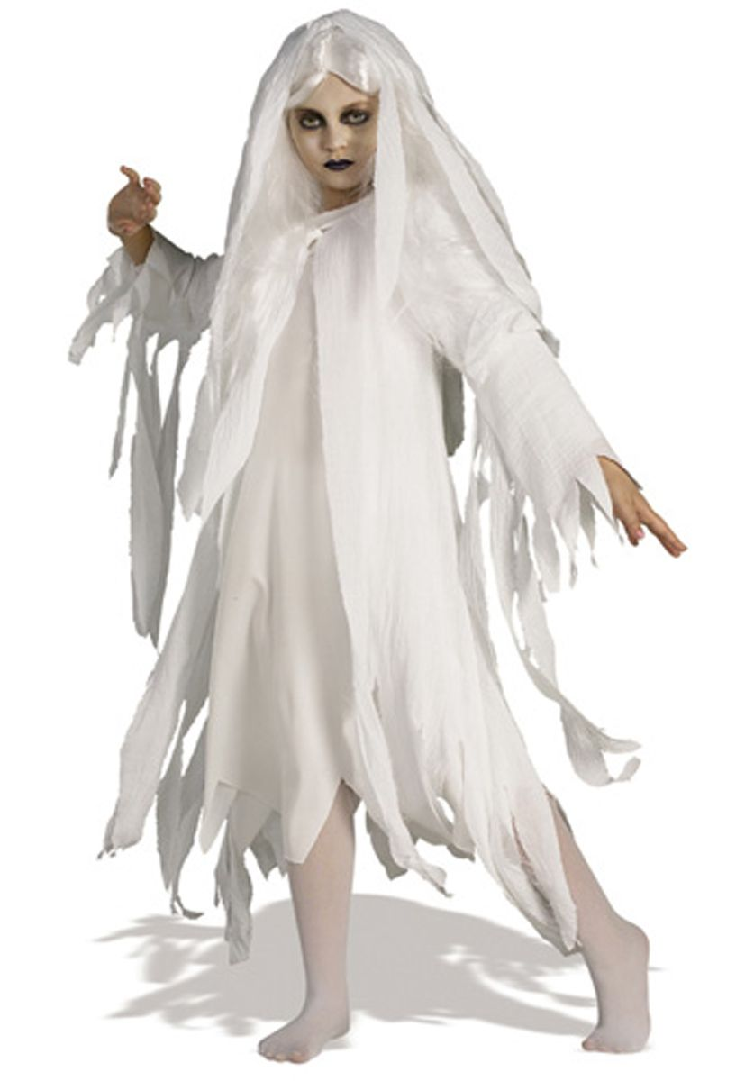Ghostly Spirit Costume - Child, Ghostly Spirit Kids Costume - Child Halloween Costumes at Escapade