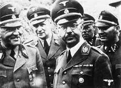 """REICHFÜRER -SS HEINRICH HIMMLER and If I'm not mistaken to his right is """"Sepp"""" Dietrich (I'll have to compare some other photos etc. And see if I'm correct)"""
