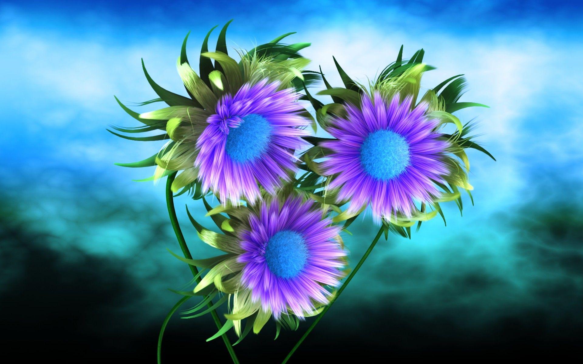 Hd 3d Flower Wallpaper Wallpaper Pinterest Purple Flowers