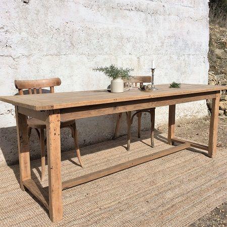 Table de ferme ancienne bois brut ancien table campagne - Table cuisine bois brut ...