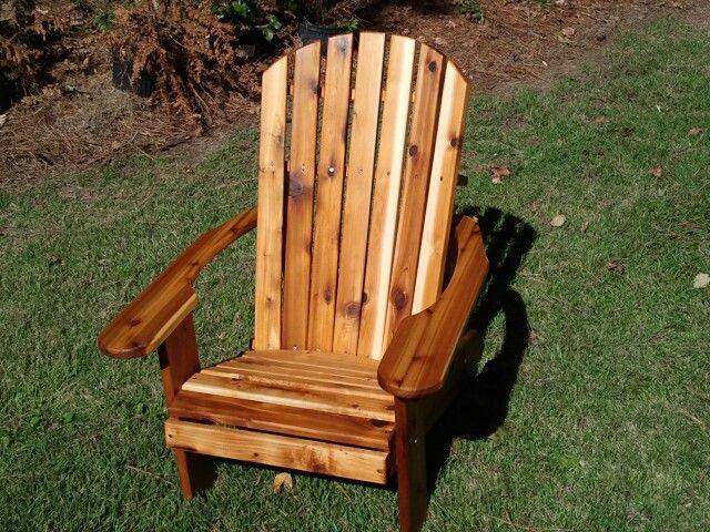 Teak Oil Finish On Western Red Cedar Adirondack Furniture