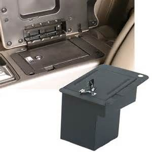 hidden gun storage car console vault vehicle safe