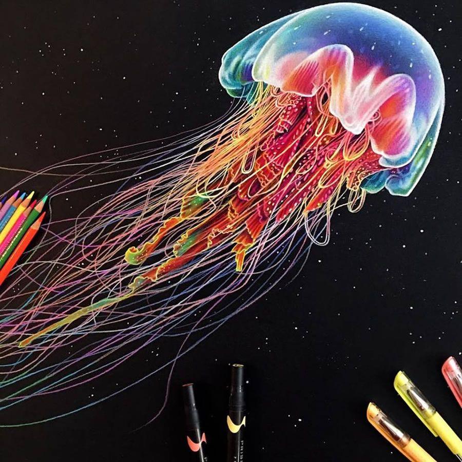 Color art colored pencils - Exquisite Colored Pencil Drawings By Morgan Davidson Abduzeedo