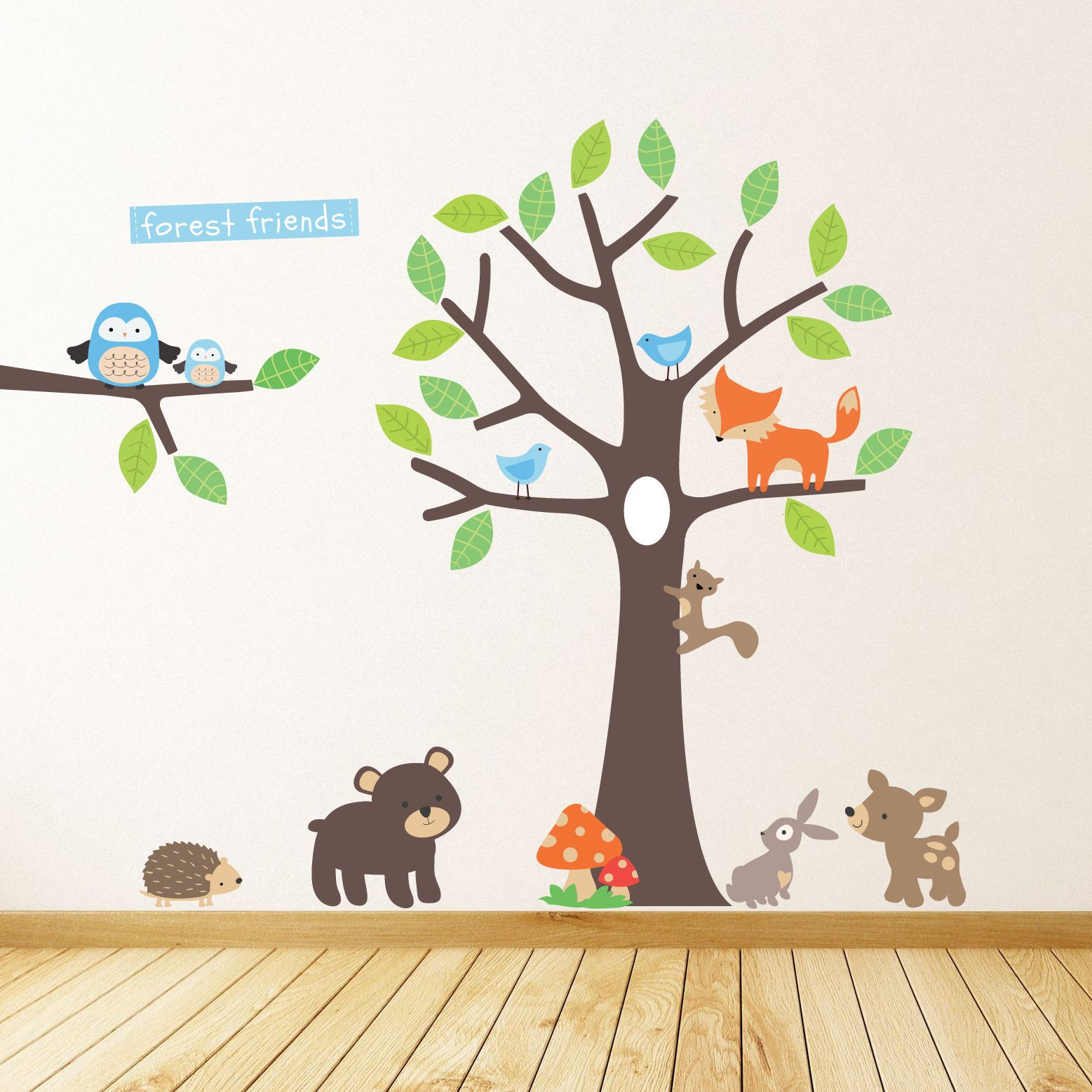 Forest Friends Tree Wall Stickers  sc 1 st  Pinterest & Forest Friends Tree Wall Stickers | Wall sticker Walls and Wall decals