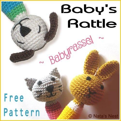Natas Nest: Baby\'s Rattle (Easter)Bunny, Cat, Dog – Free Crochet ...