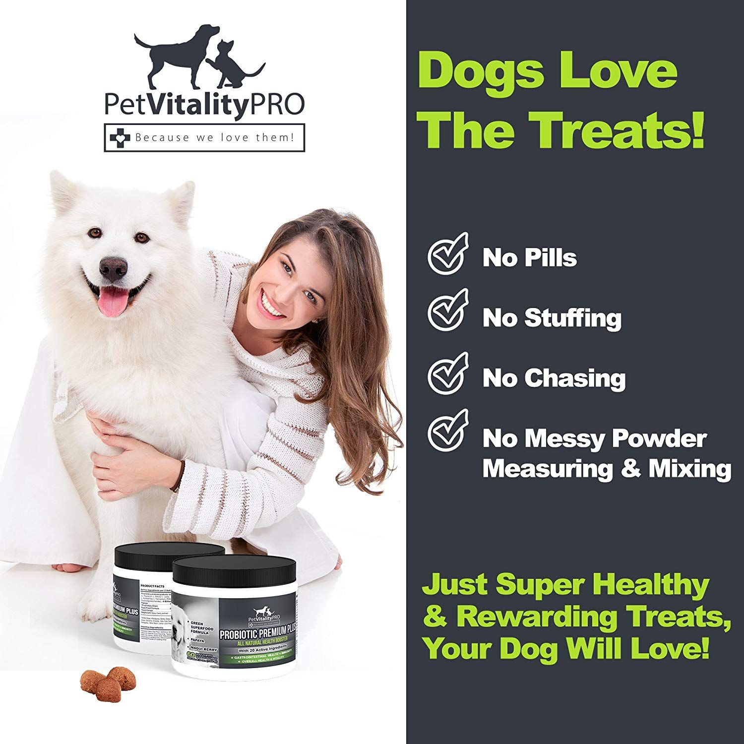 Pet Vitality PRO Probiotics for Dogs with Natural