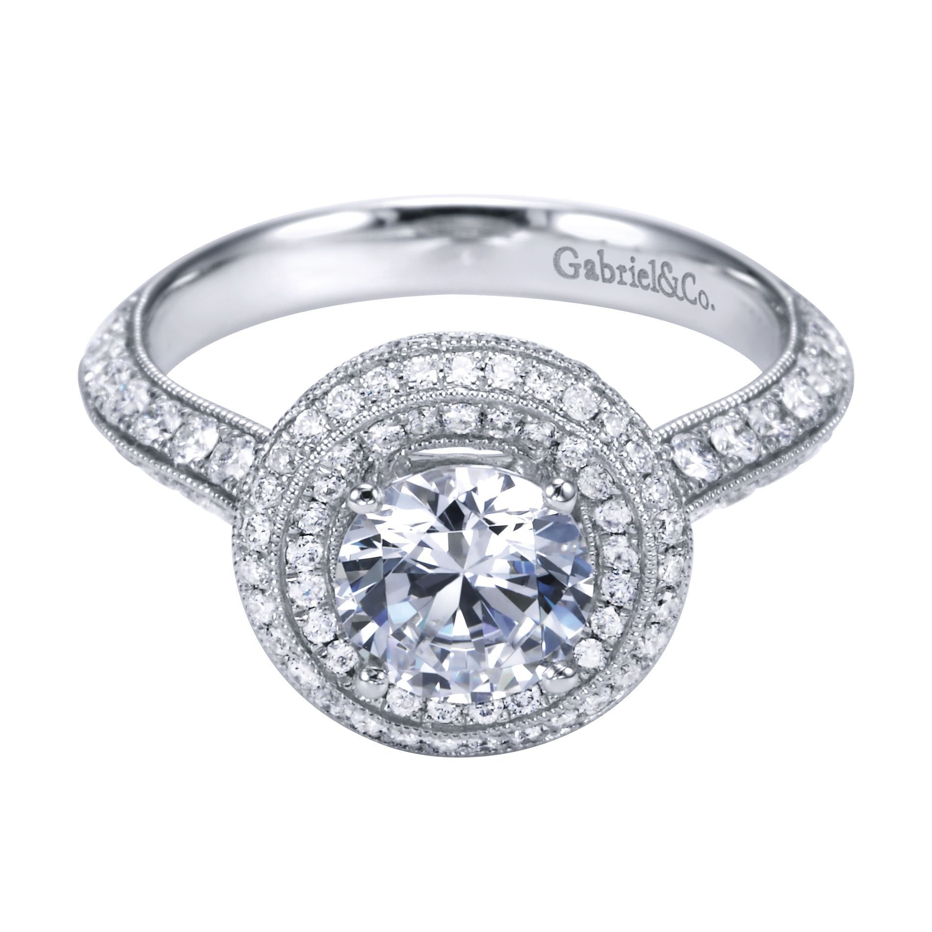 channel with set diamond centre claw shoulders jewellery setting engagement settings ring