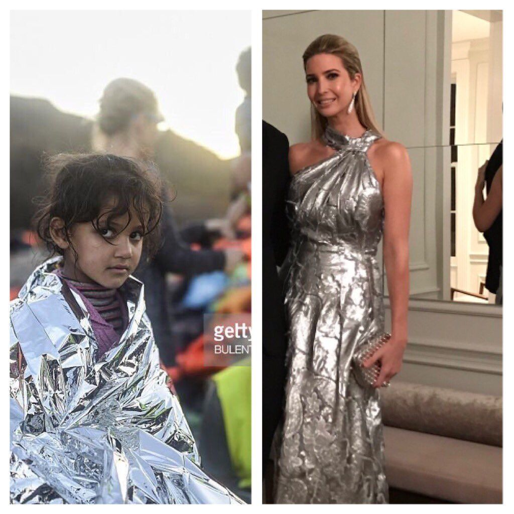 Who Wore It Better Ivanka S Tone Deaf Tweet Inn The Eve Of The Immigration Ban Formal Dresses Long Ivanka Trump Dress Ivanka Trump