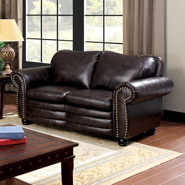 Strange Loveseat W Dark Brown Leather Leather Loveseat Love Seat Caraccident5 Cool Chair Designs And Ideas Caraccident5Info