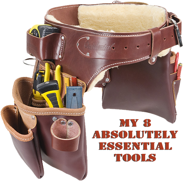 My 8 Absolutely Essential Tools The Craftsman Blog Occidental Leather Leather Tool Belt Leather Hip Bag