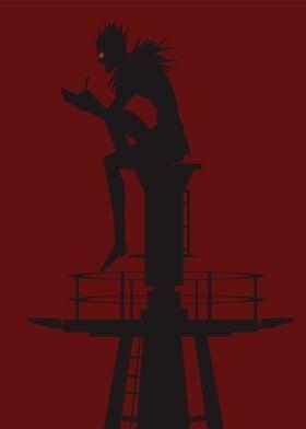 Metal Poster Shinigami Ryuk