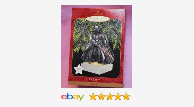 Hallmark Star Wars Talking Ornament- Darth Vader (1997) STAR WARS