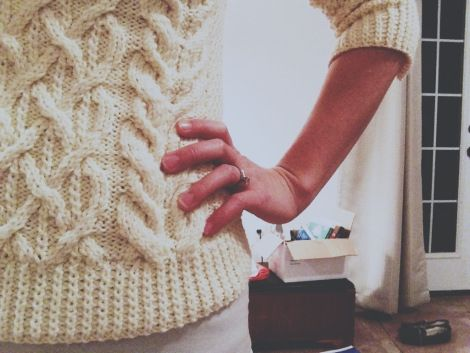 Boatneck Aran Sweater (and some big news!) | Boat neck ...