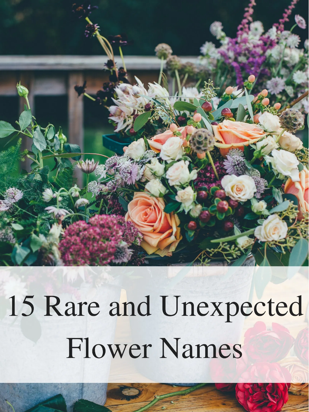 Rare and Unexpected Flower Names Flower names, Beautiful