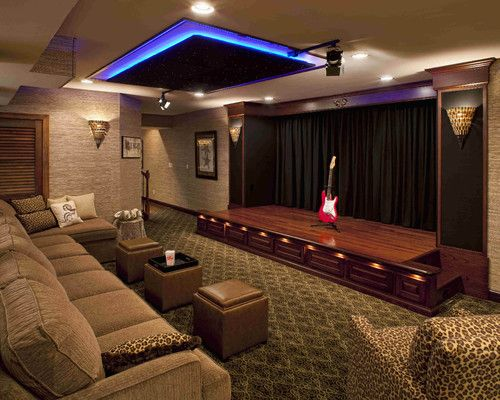 performance theater contemporary media room in my perfect world rh pinterest com