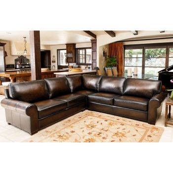 Casey Top Grain Leather Sectional