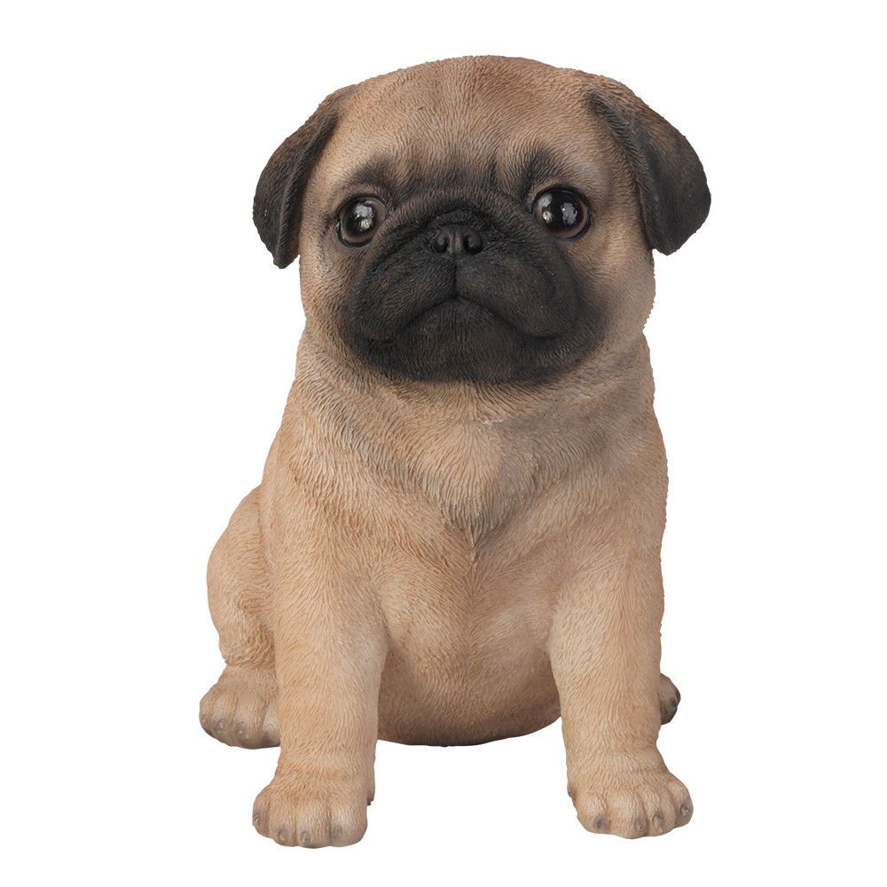 Pug Puppy Dog Collectible Figurine Miniature 6 H New Black Pug Puppies Dog Statue Pugs
