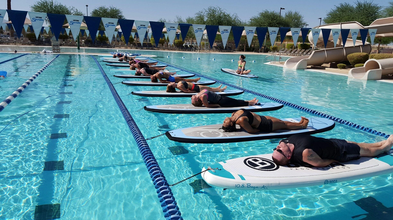 The Boga Yoga Floating Studio Is Getting Around Phoenix Yoga Standup Paddle Paddle