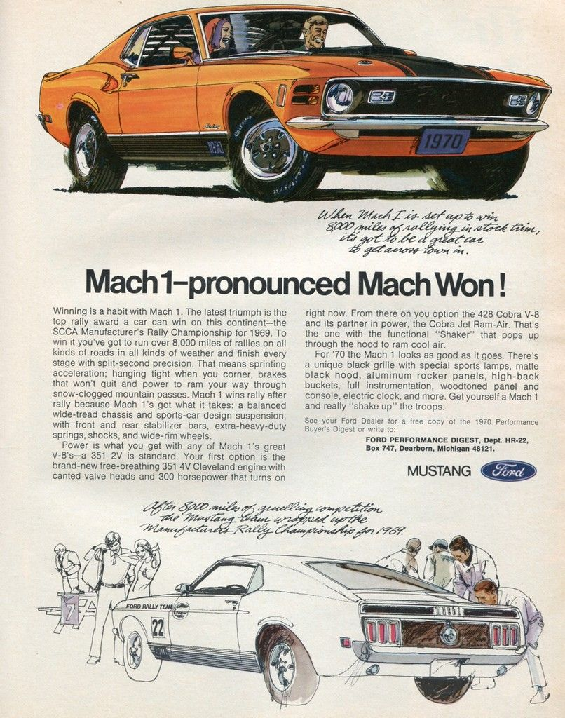 1970 Ford Mustang Mach 1 Advertising Hot Rod Magazine April 1970 Mustang Cars Ford Mustang Mach 1