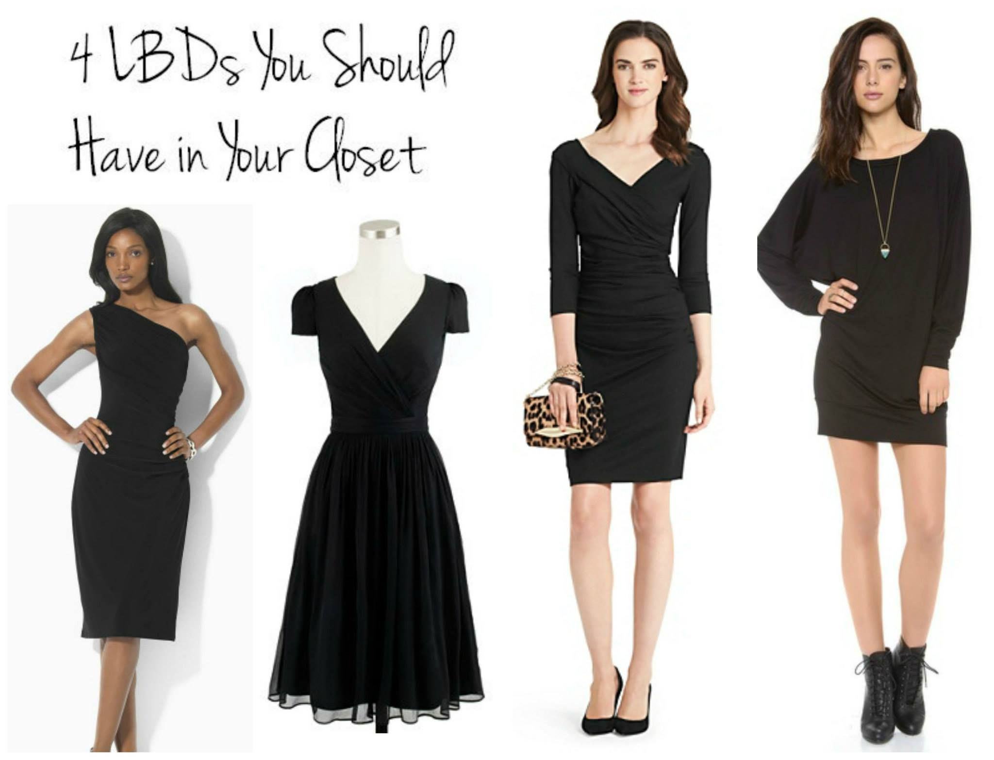 The (at a minimum) 4 little black dresses that should be in your closet #LBD