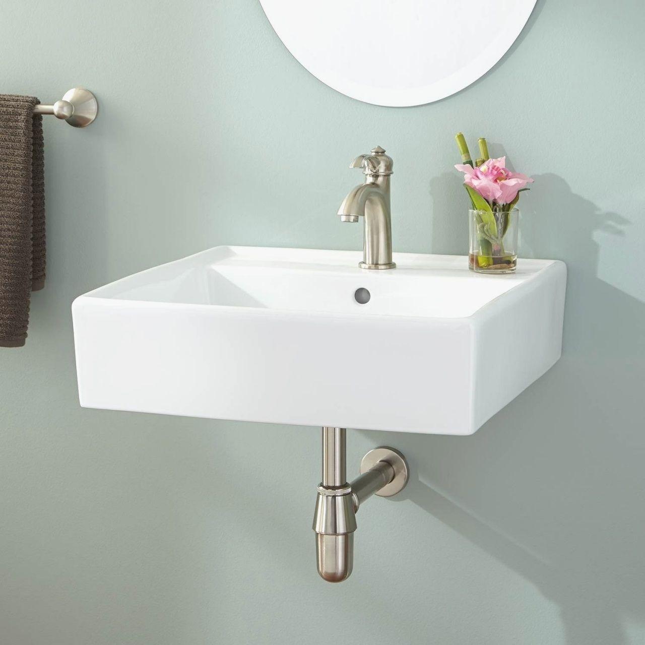 Wall Hung Lavatory Sinks In 2020 Small Bathroom Sinks Wall