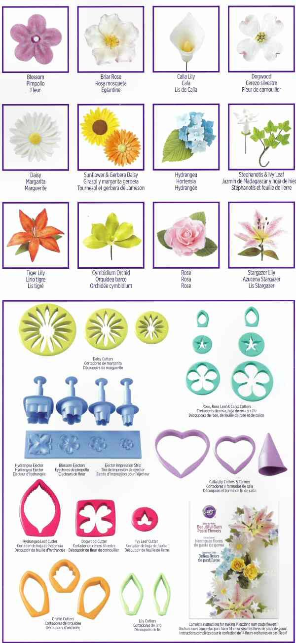 Gum Paste Flower Cutter Set By Wilton Flower Cutters Kitchen