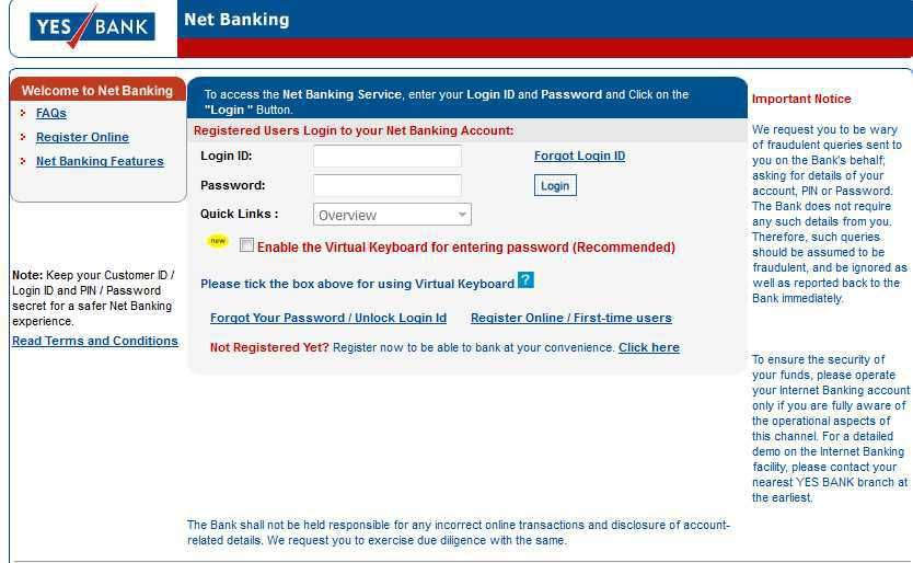Cyber Criminal can easily get access to your YesBank