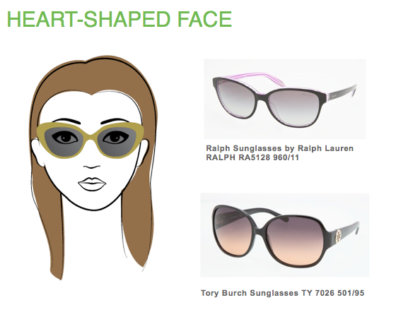 Eyeglass Frames Round Face Shapes : Best fitting sunglasses for heart-shaped face guide http ...