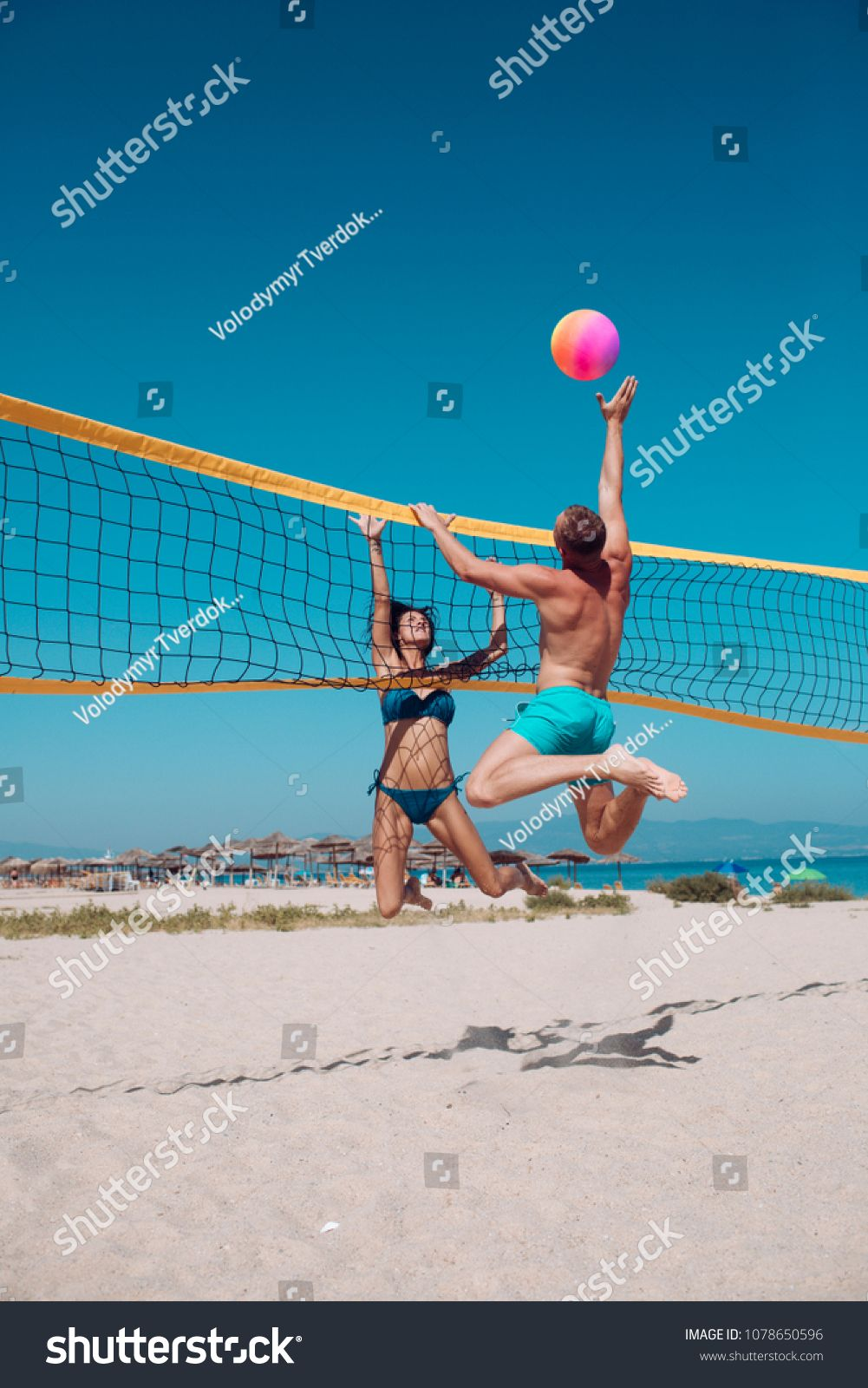 People Playing Beach Volleyball Having Fun In Sporty Active Lifestyle Man Hitting Volley Ball I Healthy Dinner Recipes Easy Dinner Recipes For Kids Kids Meals