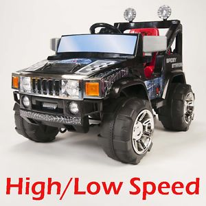12v rc battery power kids ride on hummer jeep car w big wheels r