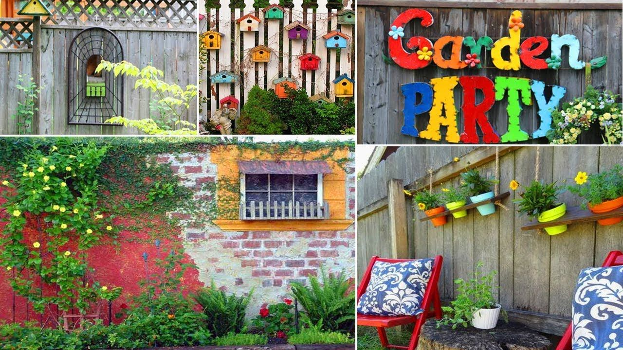 7 Creative Ideas for Garden Fence & Wall Decor  DIY Garden