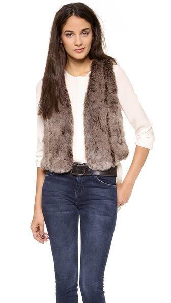 Madewell faux fur vest.
