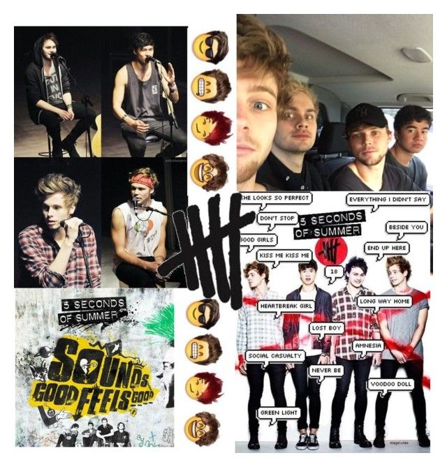 """""""I've been really into 5sos"""" by biajacksonwinchester ❤ liked on Polyvore featuring art"""