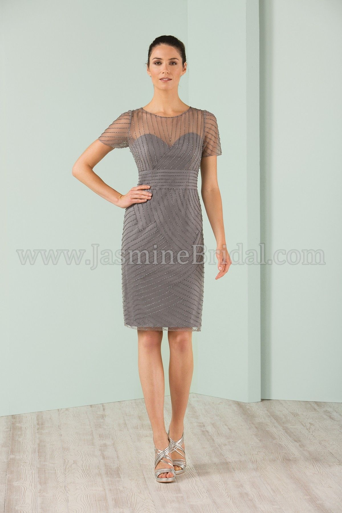Jasmine Bridal Jasmine Black Label Style M180003 in Platinum ...