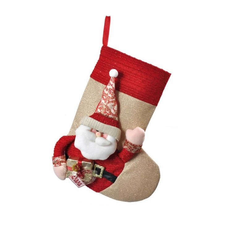 Bota Papai Noel P  Pendurar Decoração Natal 44 Cm Vermelha ... fa7e6a353c7