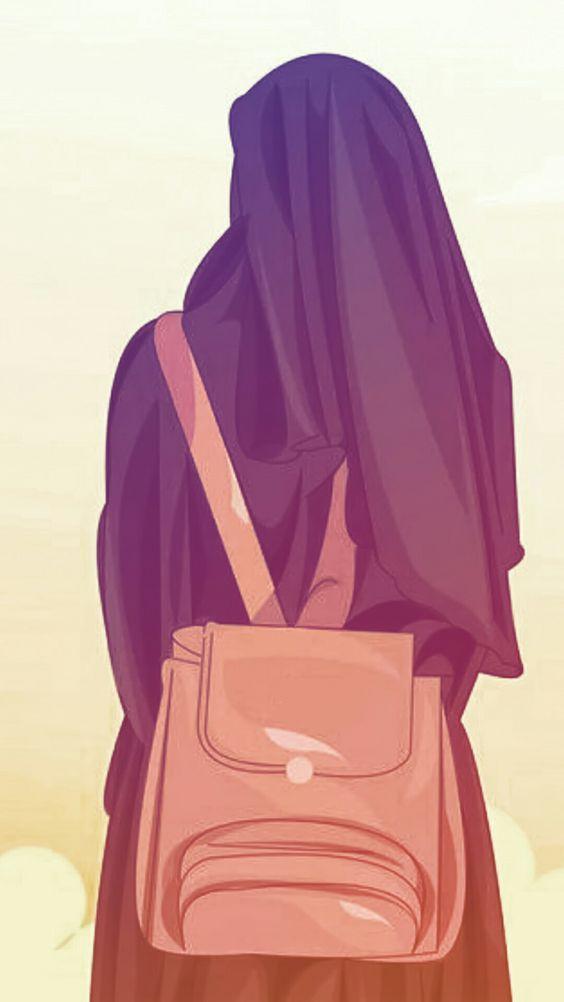 60 Gambar Kartun Muslimah Berhijab Lucu Terbaru Di 2020 Kartun Seni Islamis Gambar Wajah
